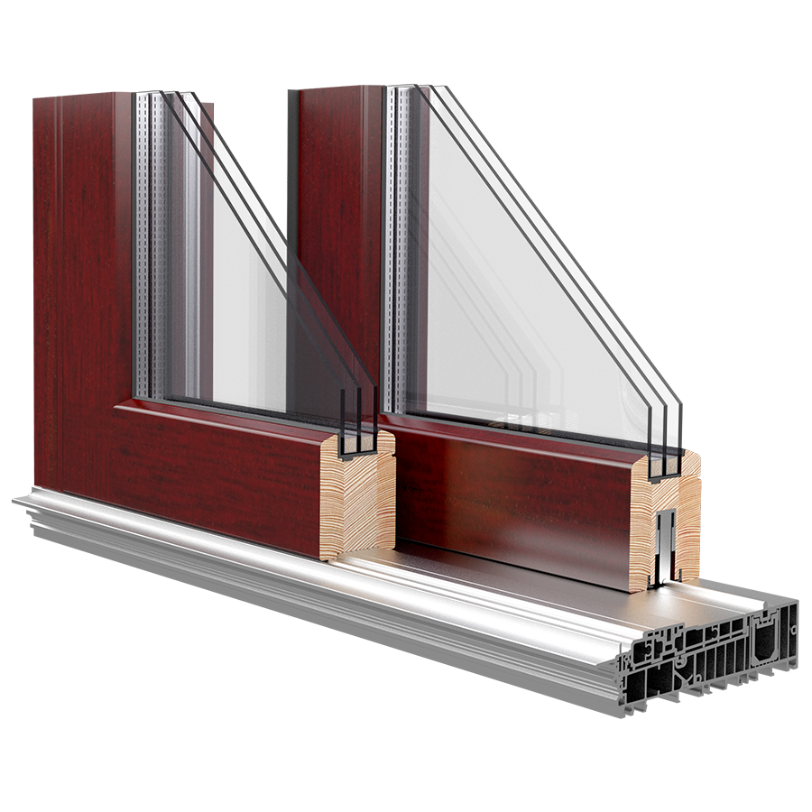 Energooszczędne okno drewniane WOOD + ECO STANDARD 68